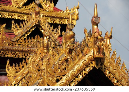 LAMPANG, THAILAND - NOVEMBER 18 : Wat Phra Kaew Don Tao temple in Lampang is an important.The temple is a mix of Burmese,Shan and Lanna architect styles. in Lampang,Thailand, November 18.2014.