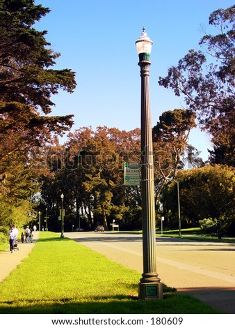 Lamppost at Golden Gate Park - stock photo