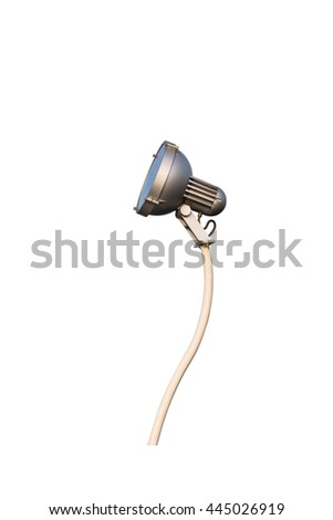 lamppost isolated on a white background. This has clipping path. - stock photo