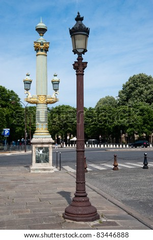 Lamps in Paris France - stock photo
