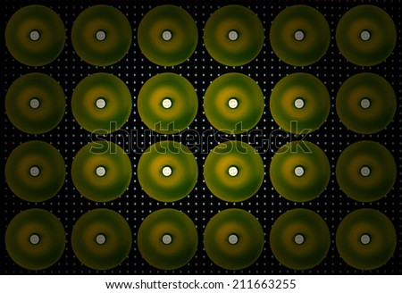 Lamps on led screen background, texture background