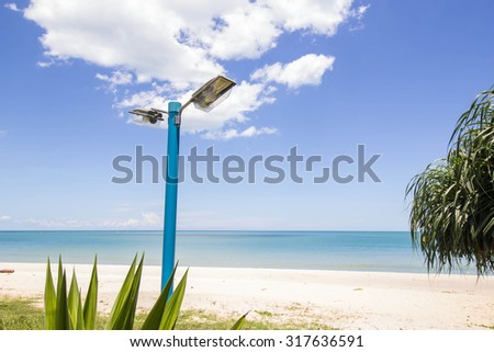 Lamps on the beach