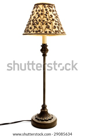 Lampshade isolated over white - stock photo