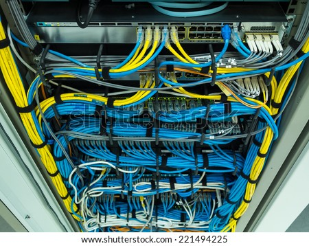 LAN Networking in the organization - stock photo