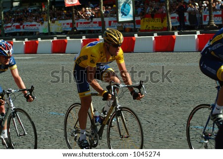 Lance Armstrong in Paris - Tour de France 2004 - stock photo