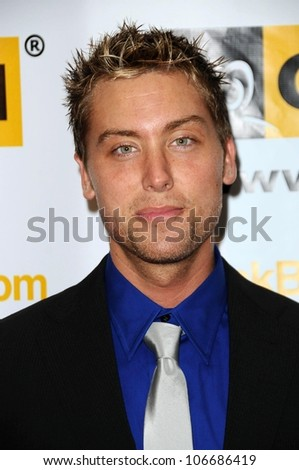 Lance Bass  at the 4th Annual GLSEN Respect Awards. Beverly Hills Hotel, Beverly Hills, CA. 10-10-08 - stock photo