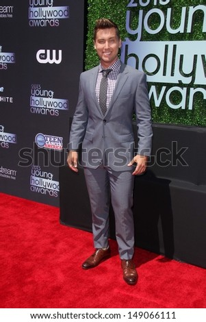 Lance Bass at the 15th Annual Young Hollywood Awards, Broad Stage, Santa Monica, CA 08-01-13 - stock photo