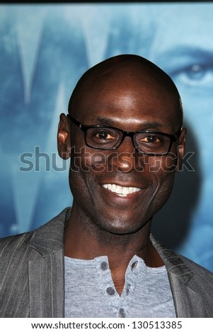 """Lance Reddick at the """"Phantom"""" Premiere, Chinese Theater, Hollywood, CA 02-27-13 - stock photo"""