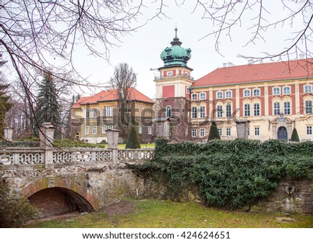 Lancut castle, Poland. historical old palace in Poland