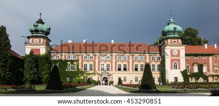 Lancut castle, Poland. historical old palace in Poland - stock photo