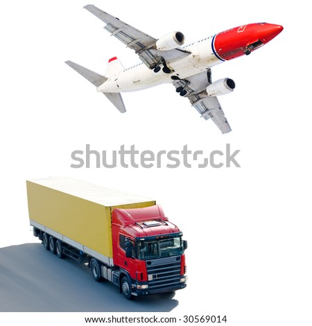 land and air shipping - stock photo