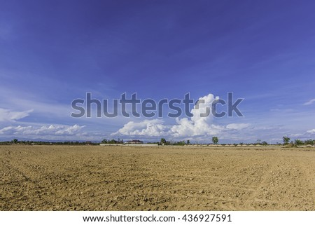 land area soil adjustment and reclamation project - stock photo