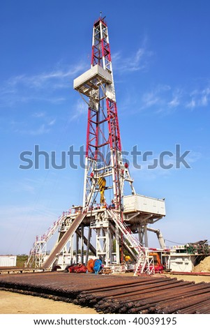 Land drilling rig - stock photo