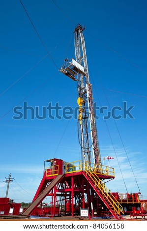 Land drilling rig. - stock photo
