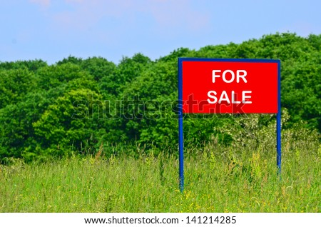 Land for sale concept - stock photo