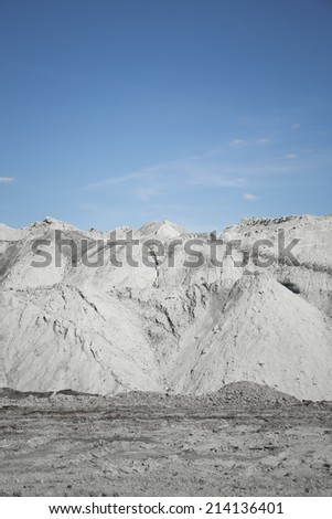 land piles a coal in a mine - stock photo