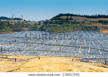 landfill waste site - stock photo