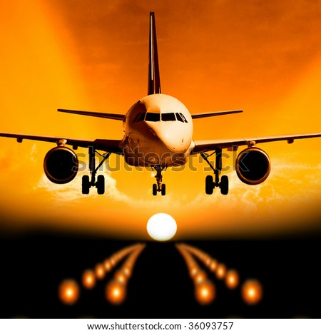 landing - stock photo