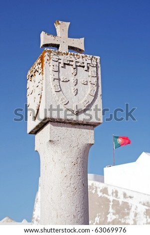 Landmark of Portuguese Discoveries at sagres fortress - stock photo