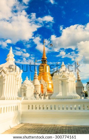 Landmark Temple, Wat Suan Dok  in Chiang Mai, Asia Thailand - stock photo