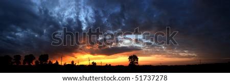 Landscape after storm - stock photo