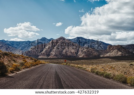 Landscape and Nevada with Mountain