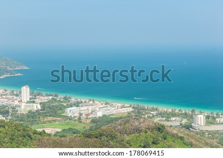 Landscape and Phuket view in Thailand