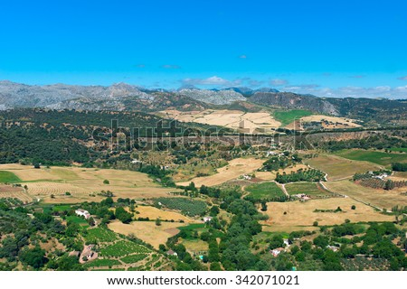 Landscape Andalusian plains - stock photo