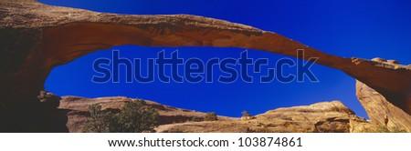 Landscape Arch, Arches National Park, Moab, Utah - stock photo