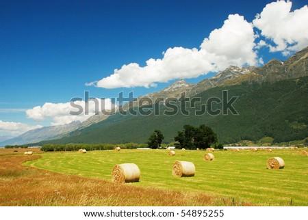 Landscape around Glenorchy, New Zealand - stock photo