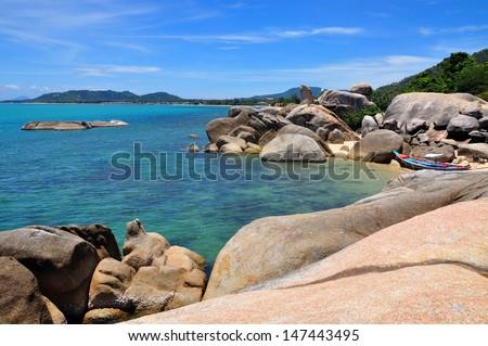Landscape around Lamai beach , Samui Island, THAILAND - stock photo