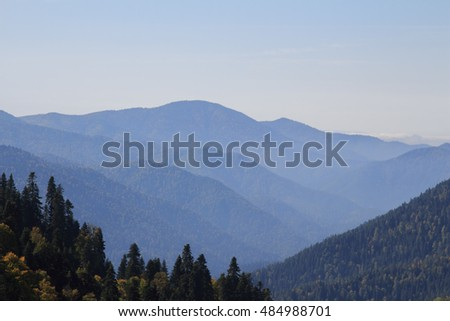 landscape at Bolu Mountains and forest, Turkey