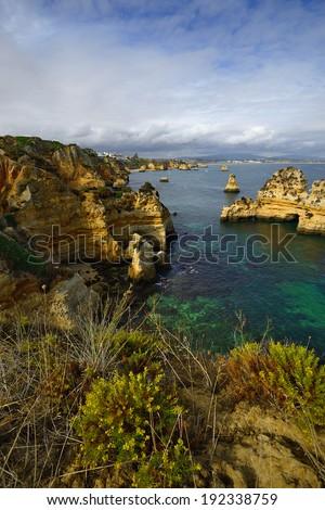 Landscape at Lagos, Algarve. Portugal  - stock photo