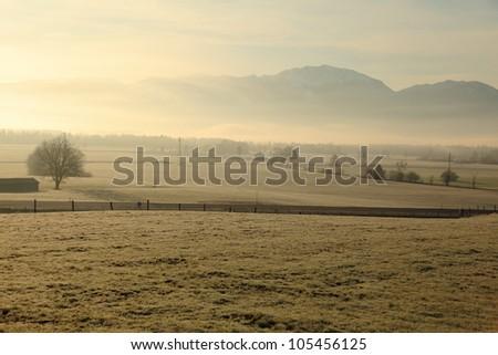 landscape at morning - stock photo