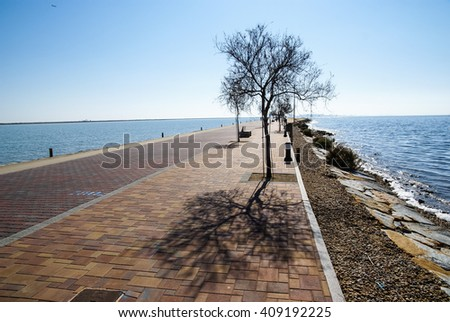 Landscape at San Pedro del Pinatar, Valencia y Murcia, Spain - stock photo