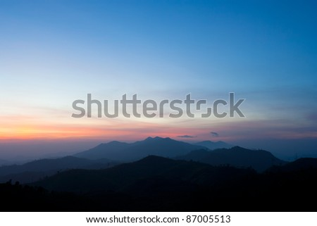 Landscape at the sunrise in the morning. - stock photo