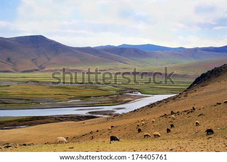 Landscape at the valley of  karakorum, Mongolia