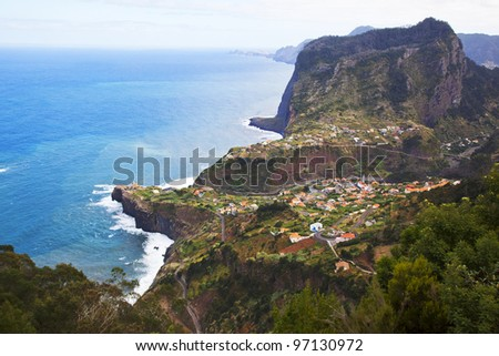 Landscape beauty at Madeira island, Portugal - stock photo