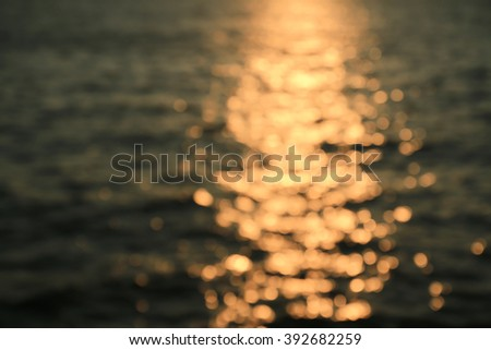 Landscape blurry sunshine - stock photo