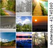 Landscape collection - stock photo