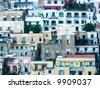 landscape for classics mediterranean houses of Positano - stock photo