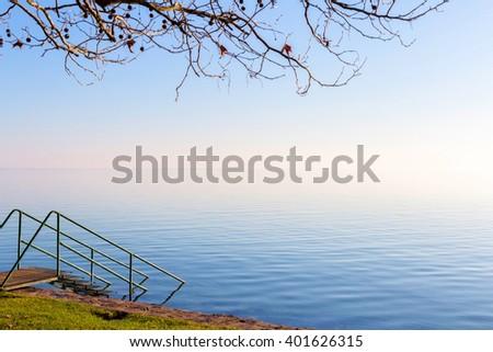 Landscape from a lake Balaton from Hungary - stock photo