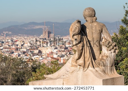 Landscape from Barcelona (Spain) - stock photo