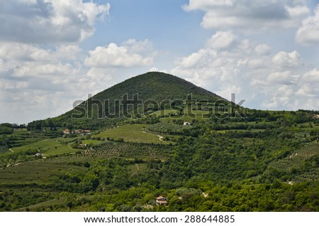 landscape from Colli Euganei (Italy) - stock photo