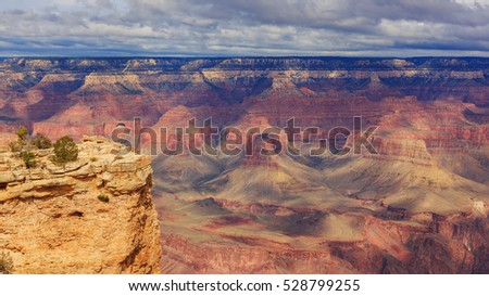 Landscape from South Rim of Grand Canyon, Arizona, United States