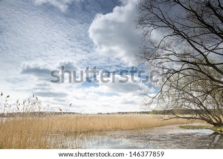 Landscape from the Polish Mazury area - stock photo