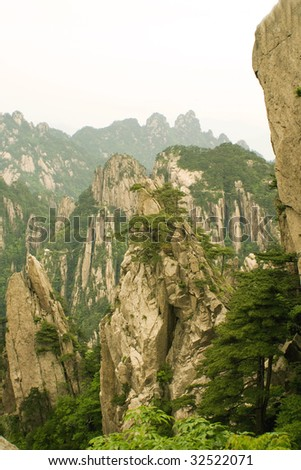 landscape from the top of the mountain - stock photo