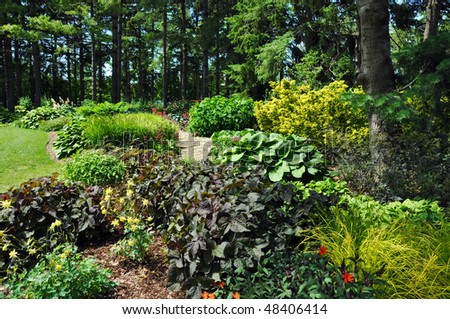 Landscape gardening - stock photo