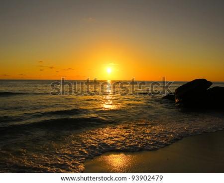 Landscape Gold Horizon - stock photo