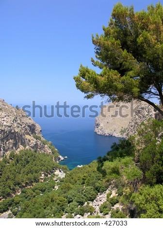 Landscape impressions from the spanish island Mallorca - stock photo